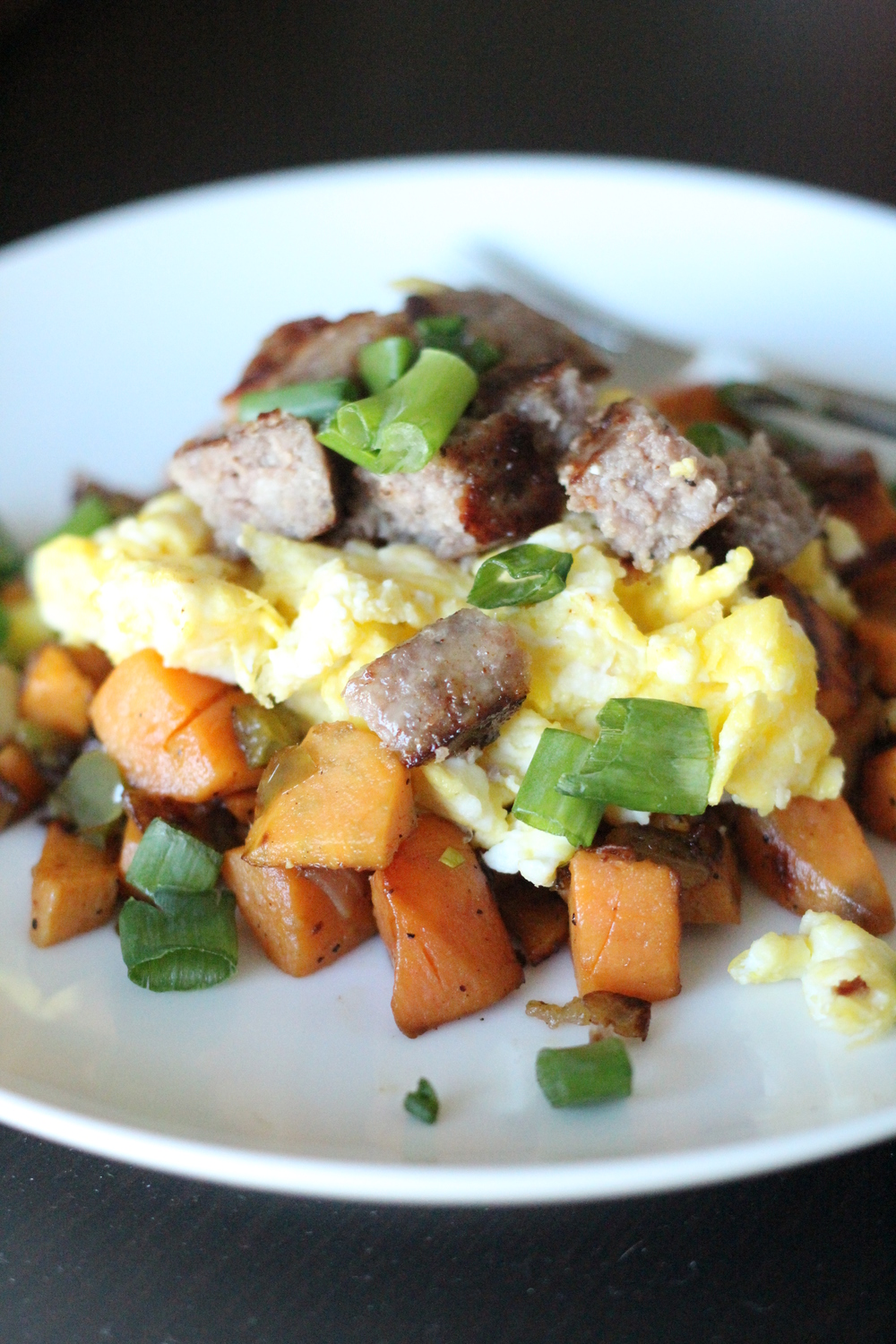 Paleo Sausage and Sweet Potato Hash