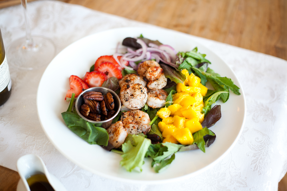 Summer Salad with Shrimp & Mango | Freckled Italian