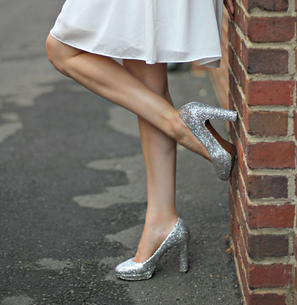 DIY Sparkle Shoes