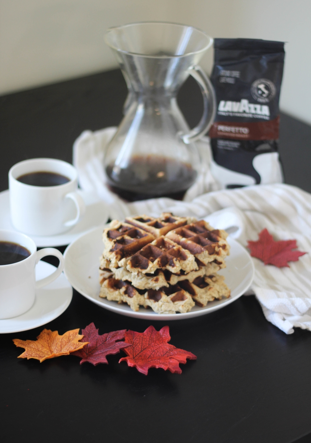 Paleo Waffles with Pumpkin Cream | Freckled Italian
