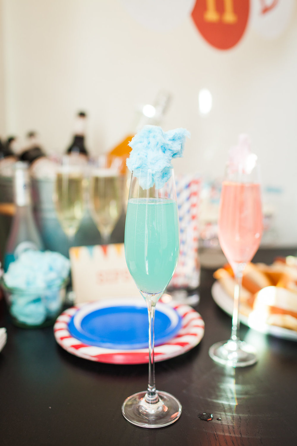 Cotton Candy Champagne Cocktails | Freckled Italian