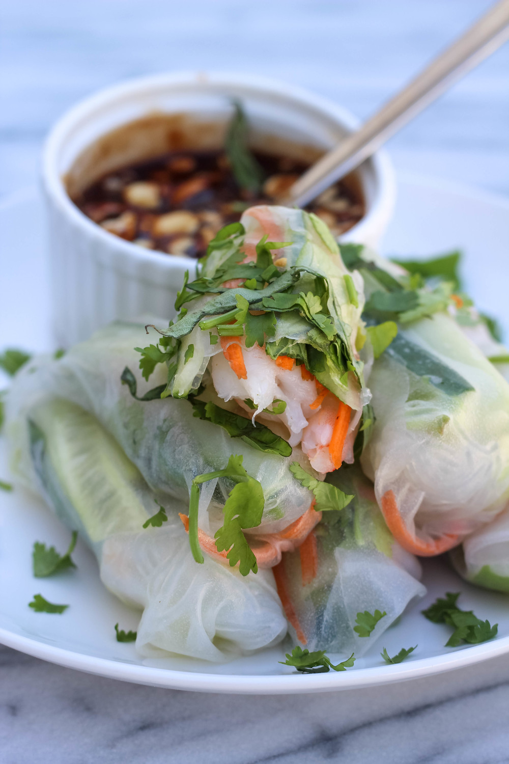 Fresh Spring Rolls | Freckled Italian