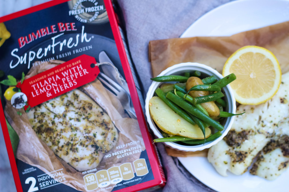 Bumble Bee SuperFresh Tilapia with Lemon, Pepper, & Herbs | Freckled Italian