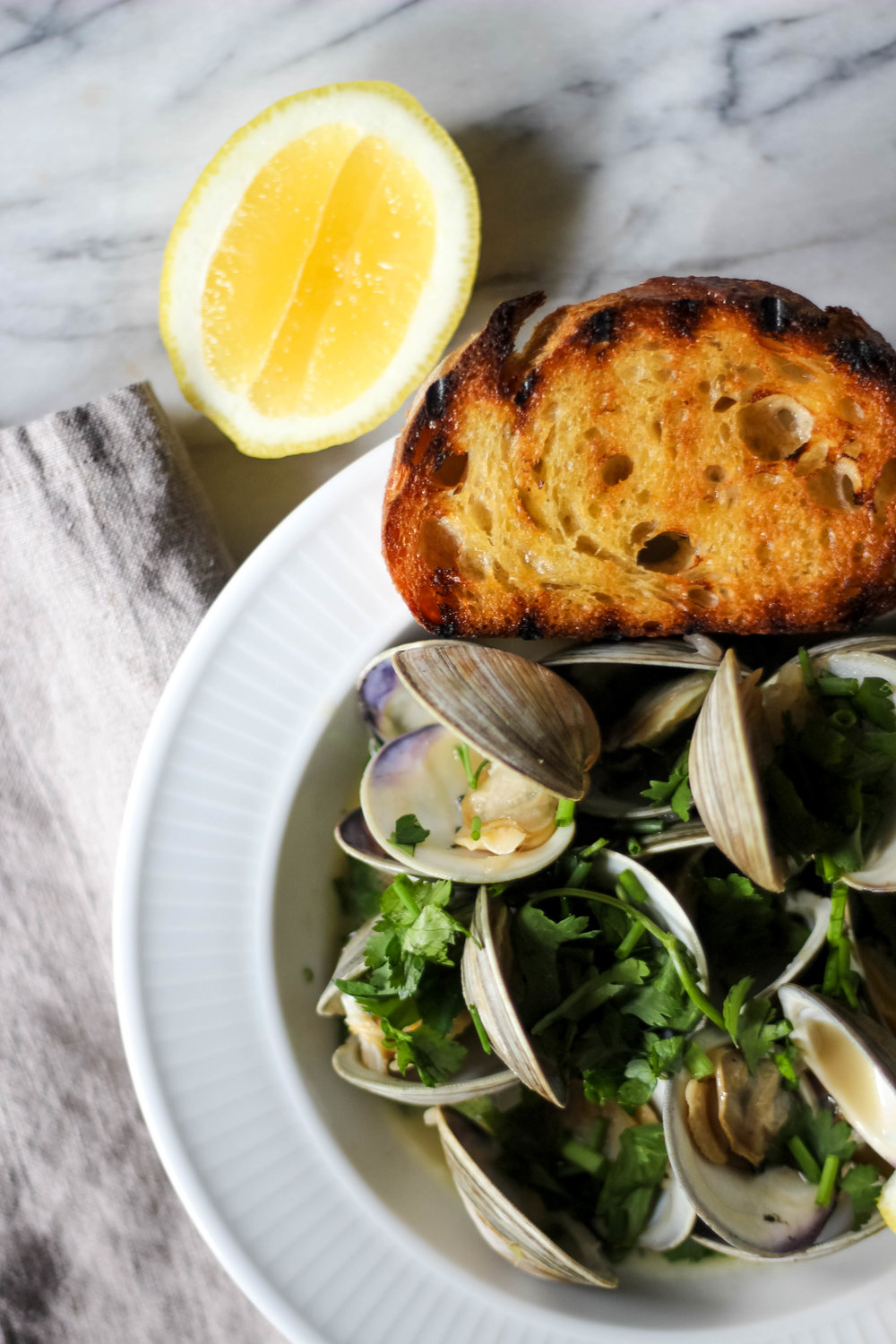 Herby Steamed Clams | Freckled Italian