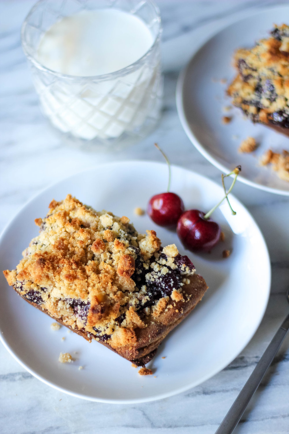 Paleo Cherry Cobbler Bars | Freckled Italian