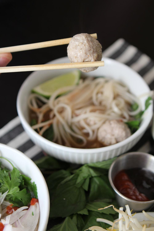 Vietnamese Pho Meat Balls | Freckled Italian