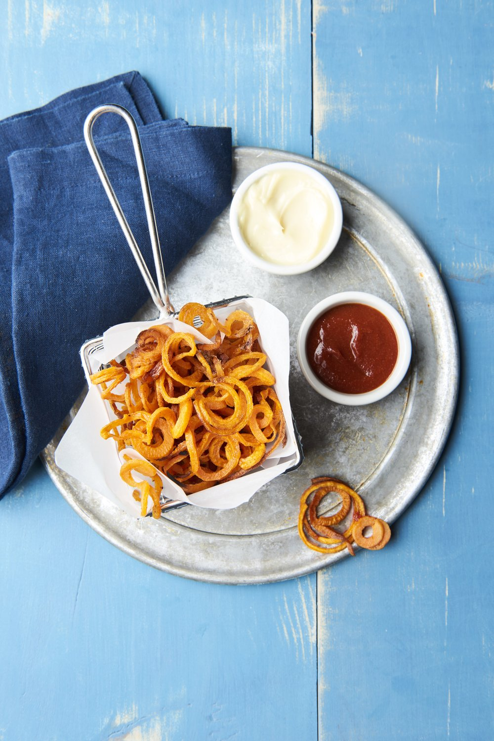 Spiralized Sweet Potato Chips | Freckled Italian