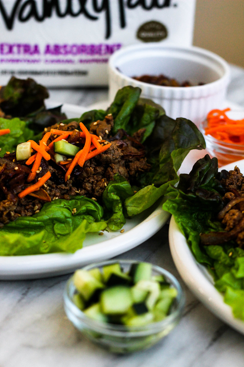 Chili Beef Lettuce Wraps | Freckled Italian