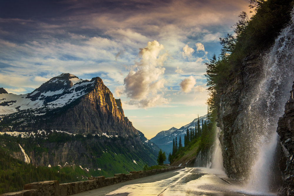 Going-to-the-Sun Road Glacier National Park Montana