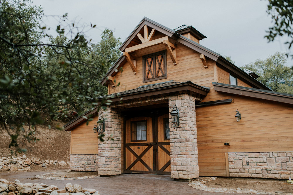 Rustic Romance - Our brand-new barn will soon be an option to host wedding receptions, but for now, our couples enjoy using it as a beautiful backdrop to family & wedding party photos.
