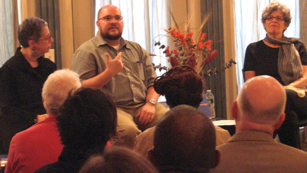 Mark Beauregard, Barbara, CLC and audience