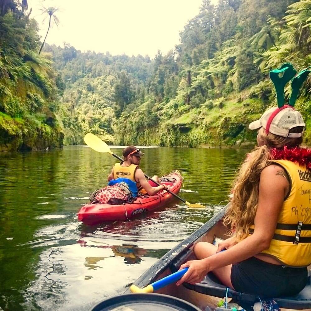 Taumarunui to Wanganui in a canooi