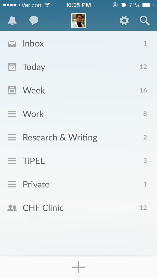 My Wunderlist Lists