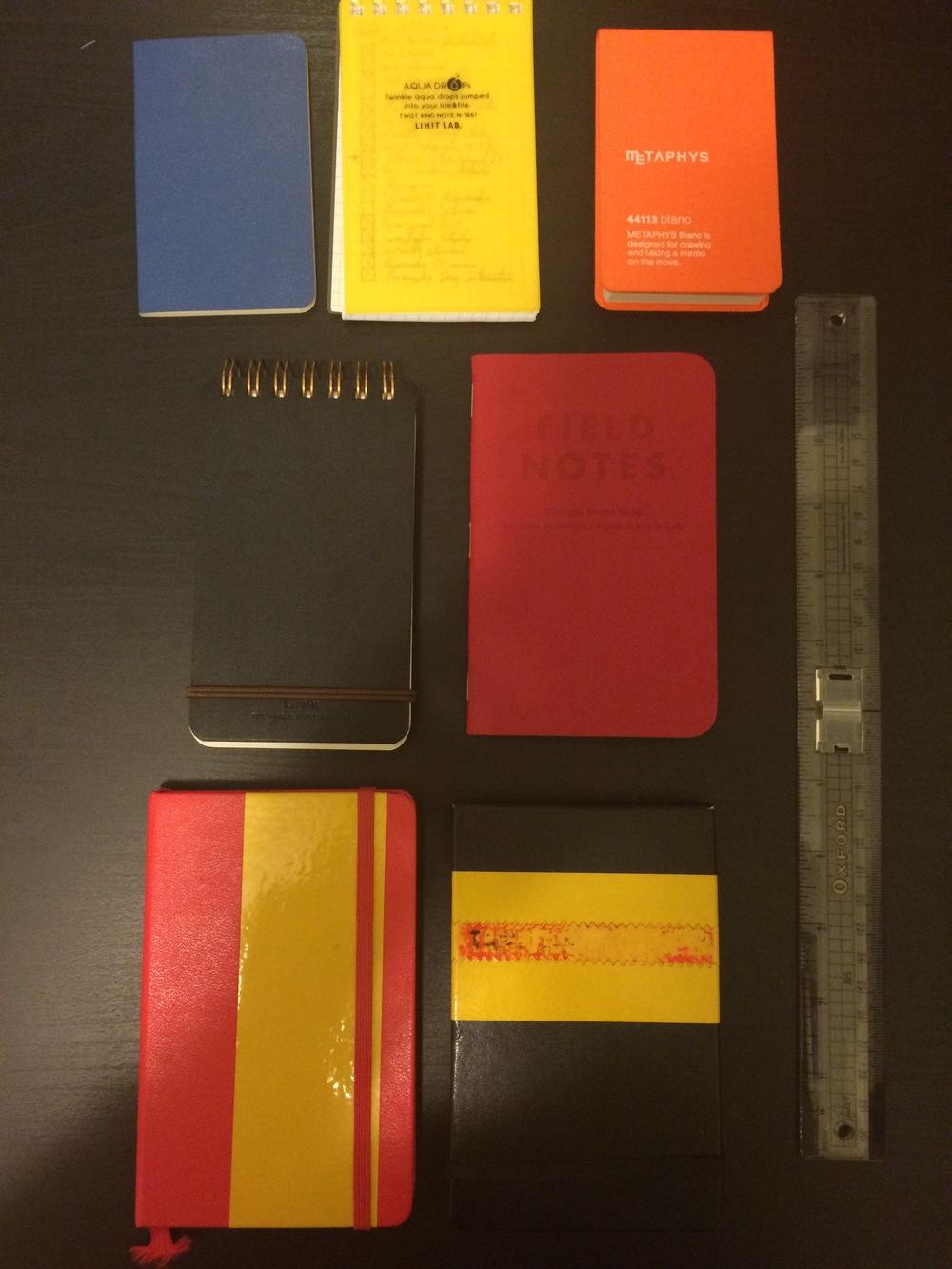 My Pocket Notebooks.
