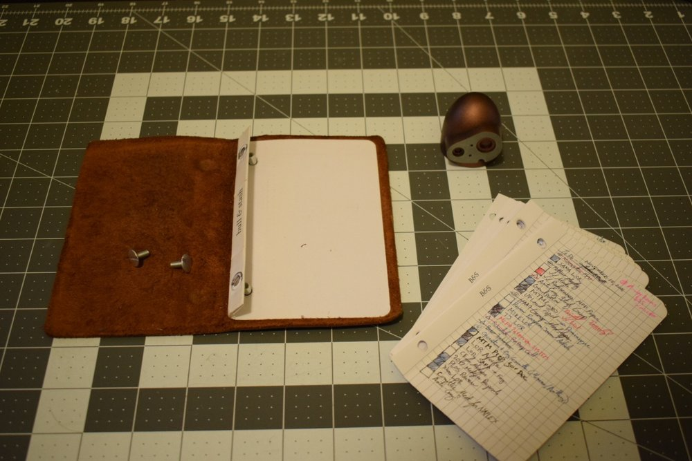 Component parts of a Bull & Stash Notebook