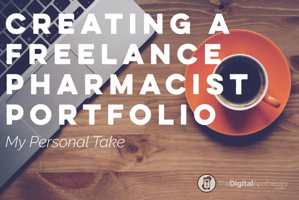 creating a freelance pharmacist portfolio and resume