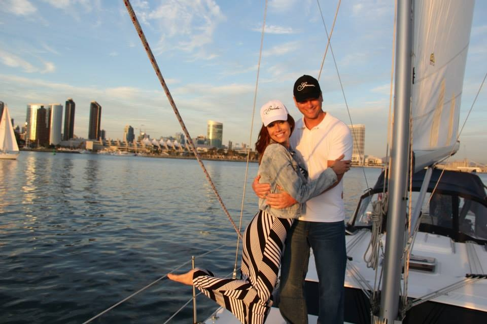 Engagement on a Sailboat in San DIego