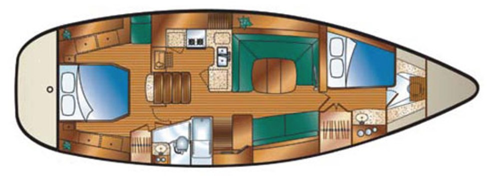Hunter-45-deck-saloon-layout