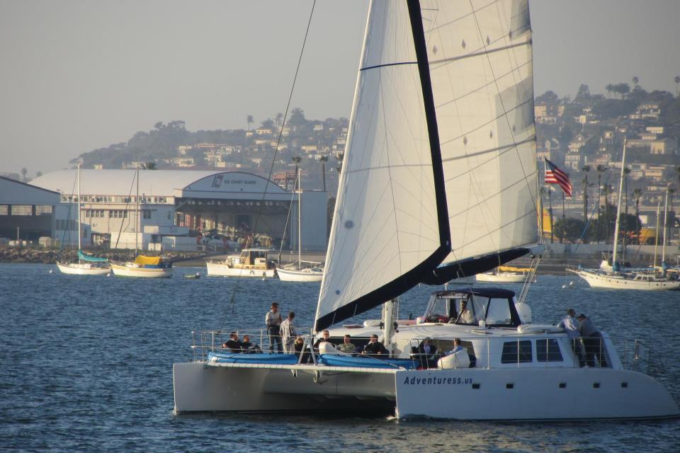 Luxury Catamaran Sailing in San Diego