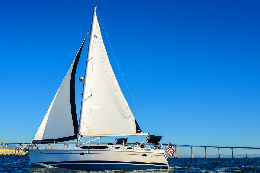 Sailing Coronado Bridge