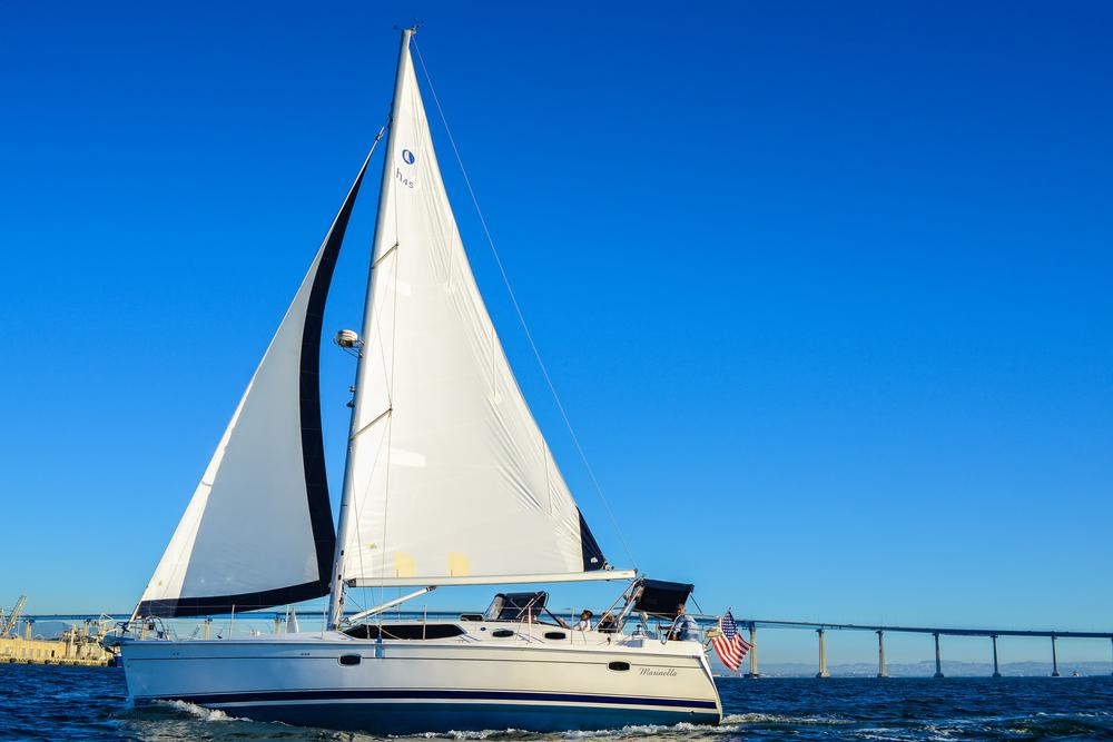 Sailing Coronado Bridge