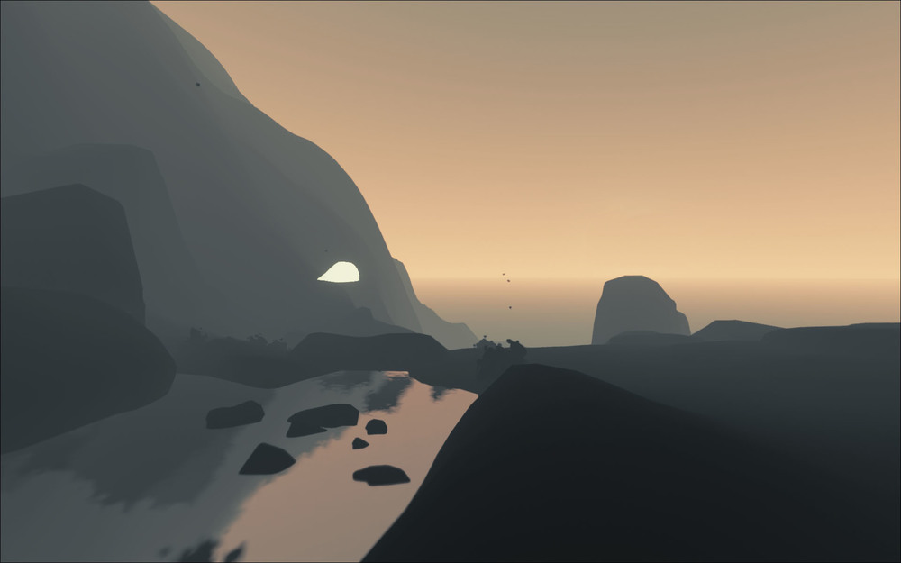 Placeholder character looks into the dawn.
