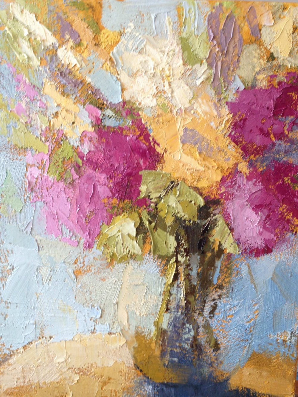 Textured Floral Study