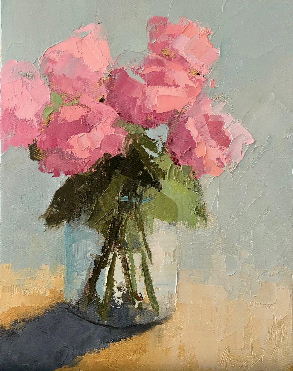 Pink Rose Study
