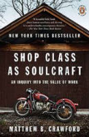 In    Shop Class as Soulcraft  ., author Matthew Crawford explores his personal journey through academia, into politics, and back to his passion - making. In his ultimate return to motorcycle repair in a Chicago shop, Matthew finds peace... and a story to be shared.