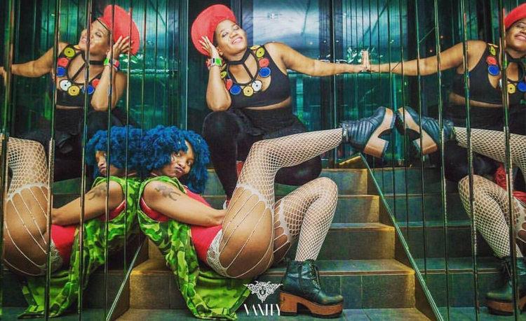 Gqom artists Moonchild Sanelly and Busiswa Gqulu