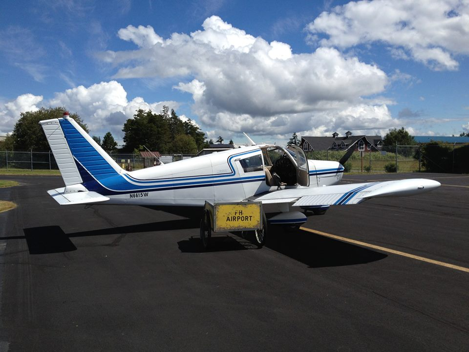 15W on the ramp at Friday Harbor Airport in Washington.