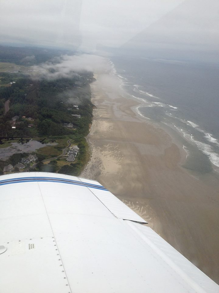 On an instrument approach into Newport, OR.