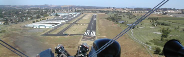 Petaluma Municipal Airport, my home base.