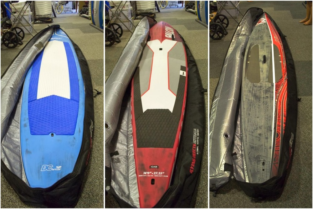 2014 DC/NSP 14 x 26, 2014 Fanatic Falcon 14 x 27.5, 2013 Starboard All Star 14 x 27.5