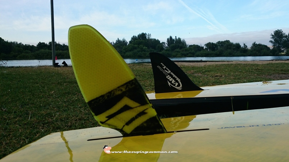 Stock Naish Race Fin and the VMG Blades Mako Time Trial