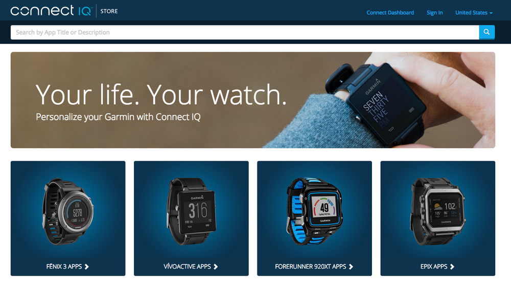 The Garmin Connect IQ Store