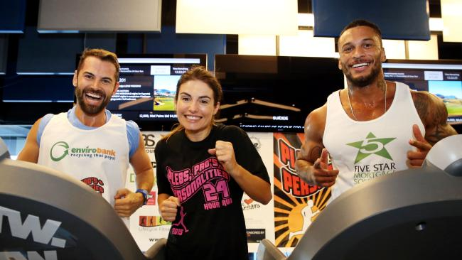 Actors Daniel MacPherson, Ada Nicodemou and fitness guru King David Macintosh support Suicide Prevention Australia.