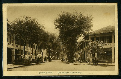Charming boulevards of old Phnom Penh during the Colonial period.