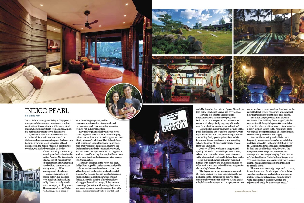 Indigo Pearl Phuket, Tatler Traveller May 2012 [ Thailand ]