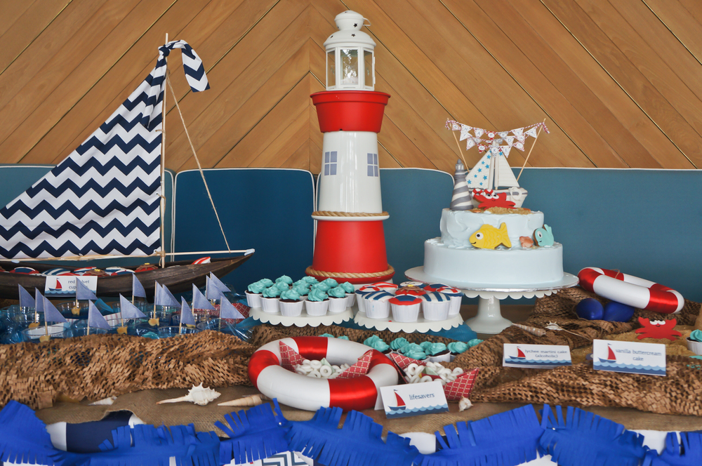 nautical dessert buffet