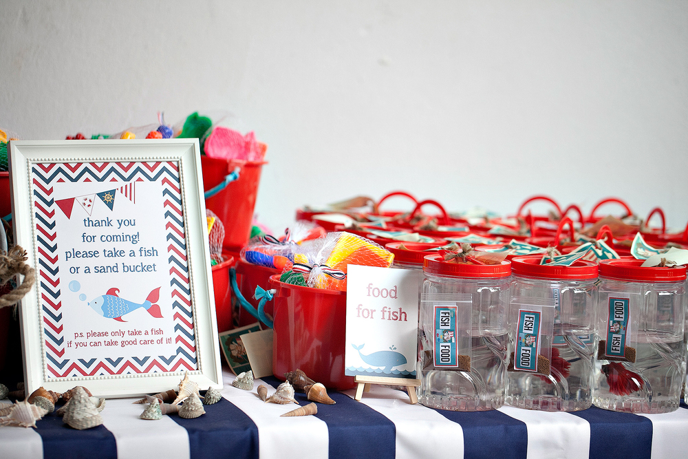 nautical party door gifts