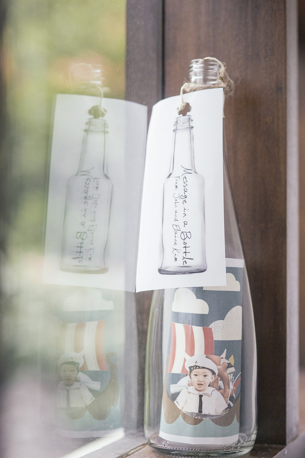 message in a bottle nautical party invite