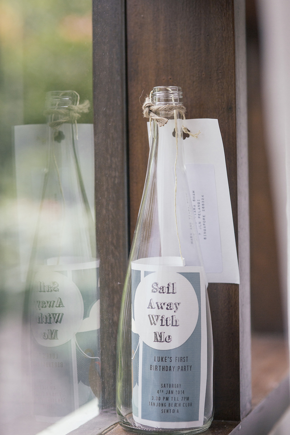 nautical party message in a bottle invite