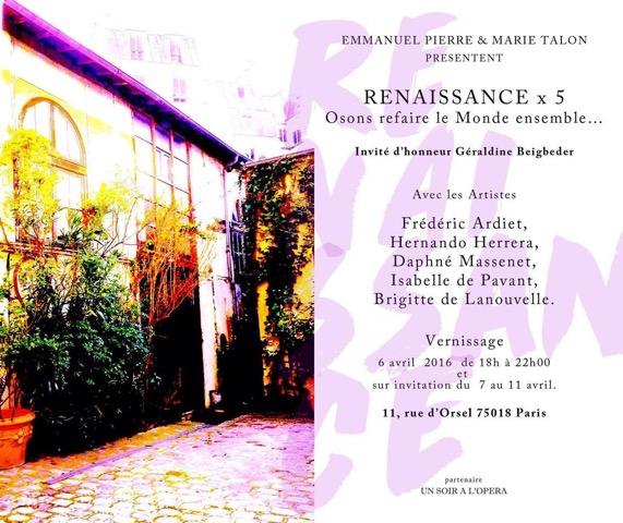 Vernissage Renaissance Brigitte de Lanouvelle