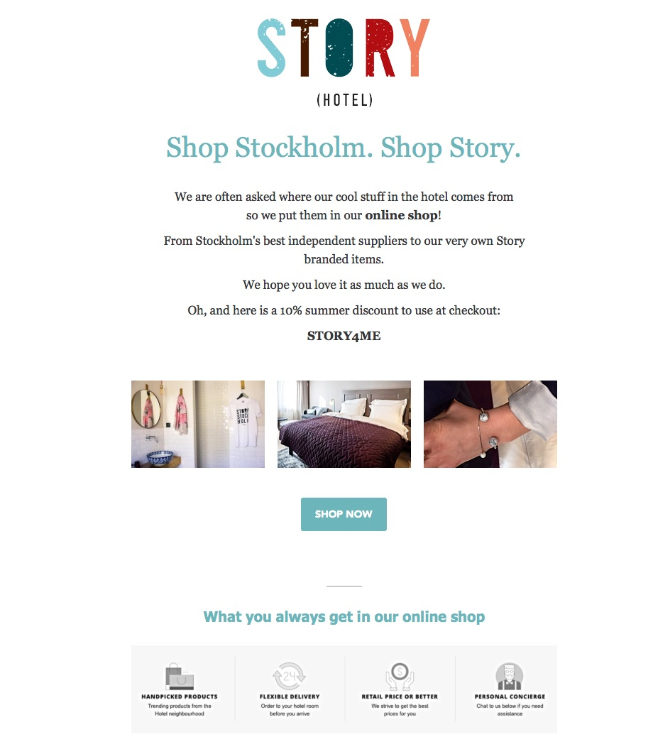 An effective email campaign that lead to 15,000 SEK in sales in just 4 hours. Excellent use of a promotional code to charge the promotion even further.