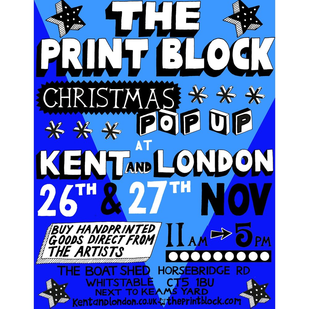 Print Block Christmas Pop Up at Kent and London