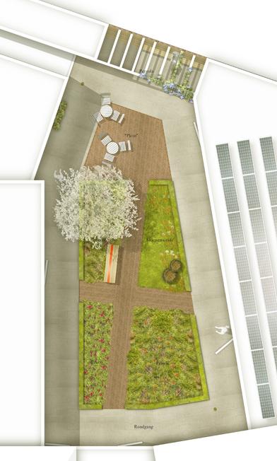 visualisatie van kleine tuin