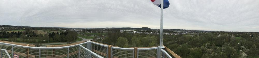 panorama vanaf uitkijktoren GRASVELD Tuin- en Landschapsarchitecten