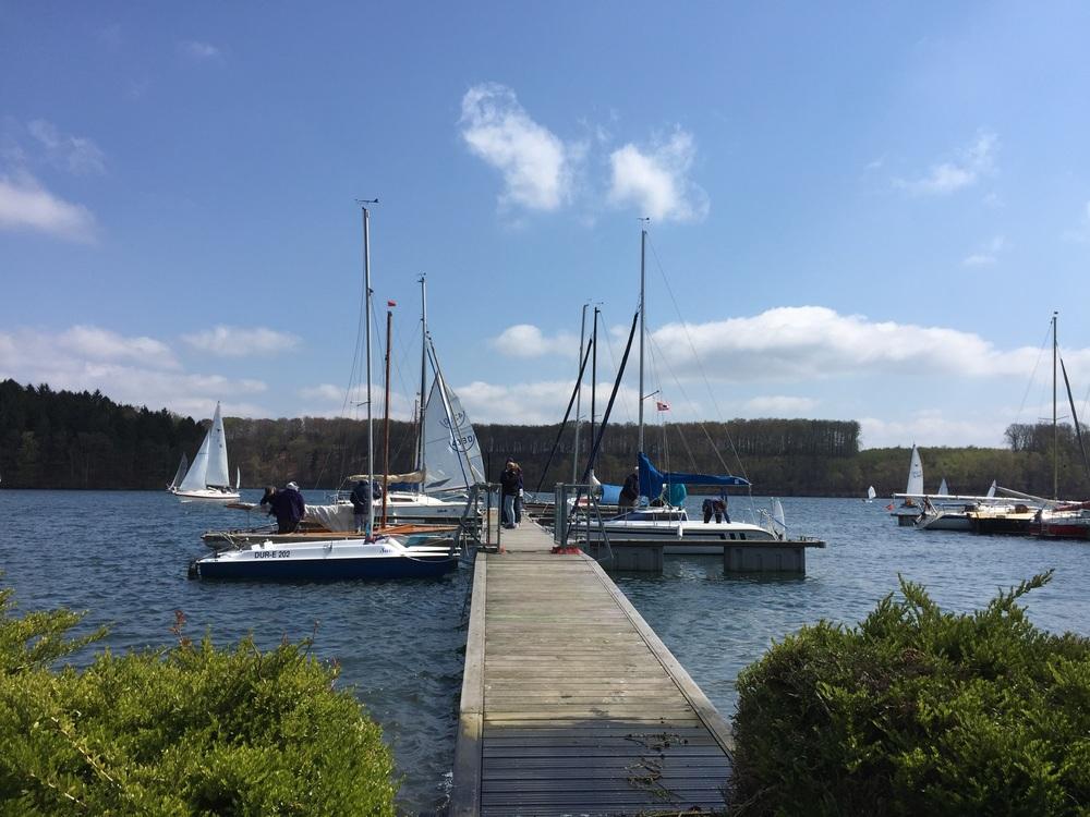 Die Boote vom AWV wurden zu Wasser gelassen.