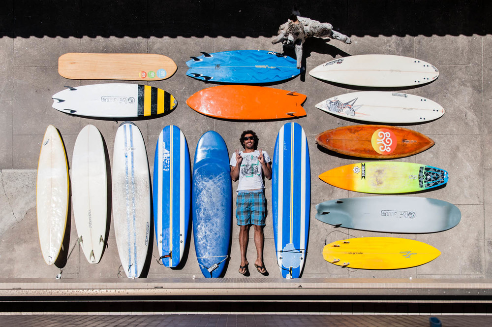 may: rui and his surf school quiver